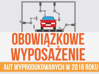 obowiązkowe wyposażenie aut wyprodukowanych w 2018 roku
